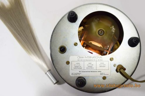 Cima Fiber Optic Table Lamp - label
