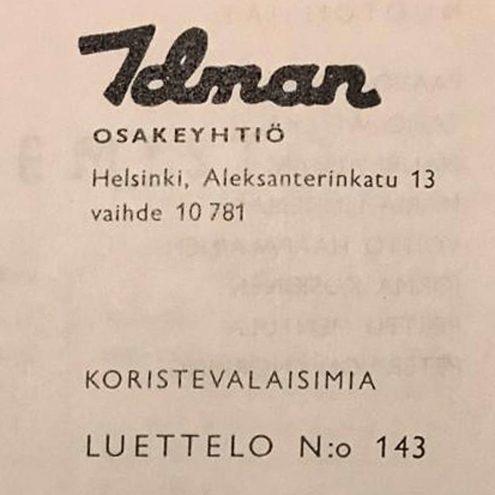 Idman Lighting Catalogue 143 – 1961