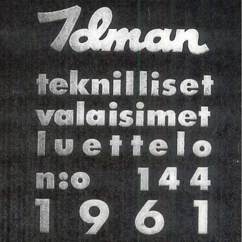 Idman Lighting Catalogue 144 – 1961