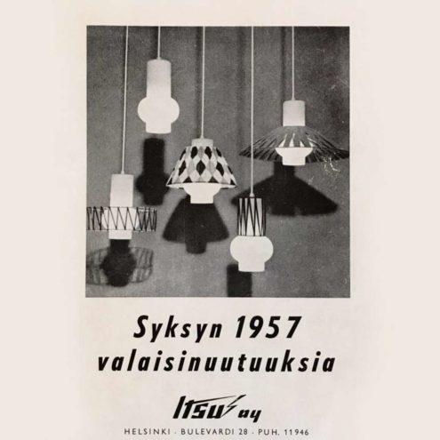 Itsu Oy 1957 Lighting Catalogue