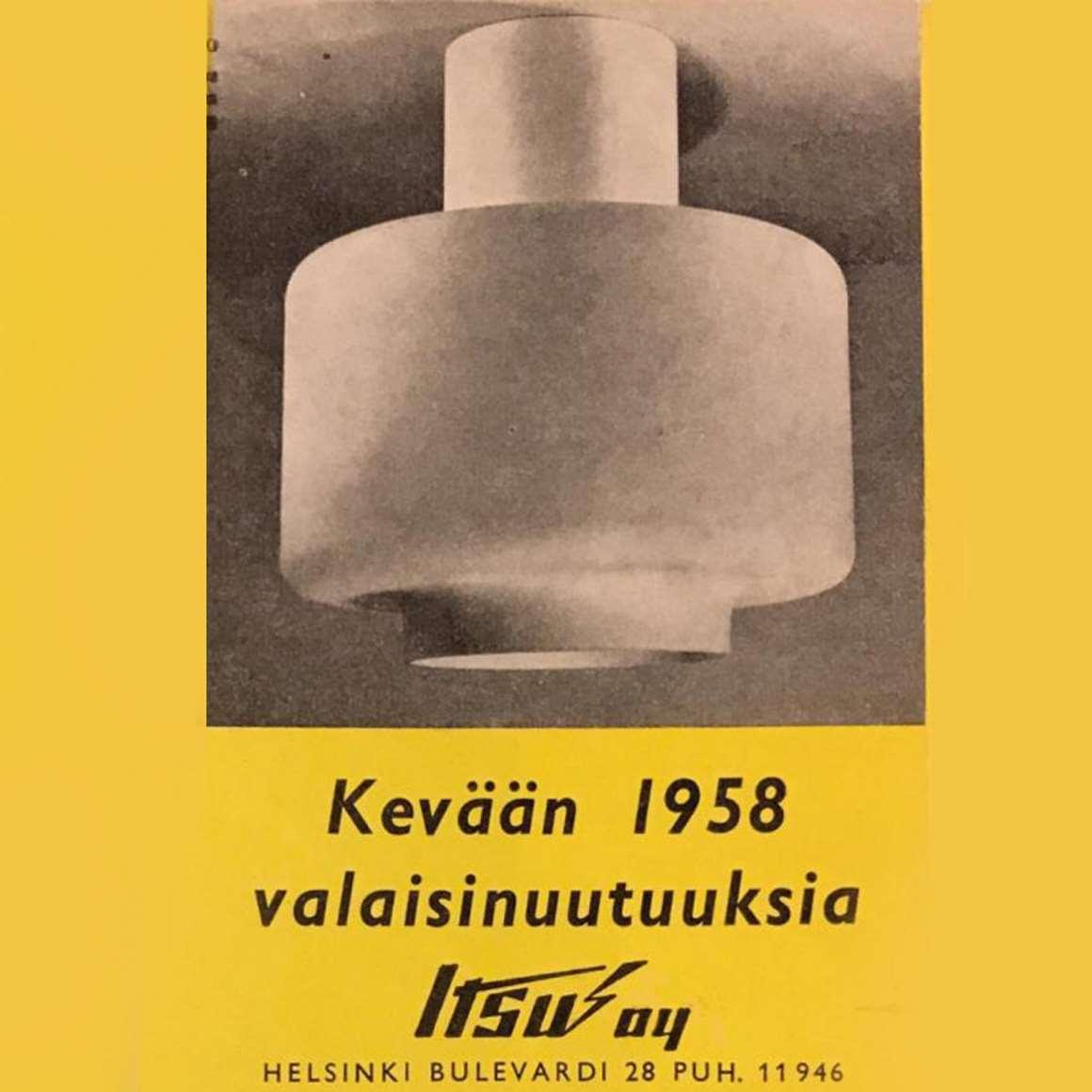 Itsu Oy 1958 Lighting Catalogue