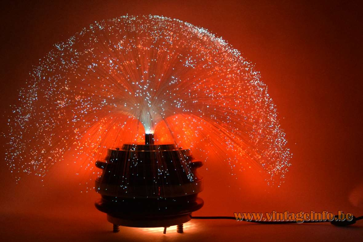Rotating Fiber Optic Table Lamp