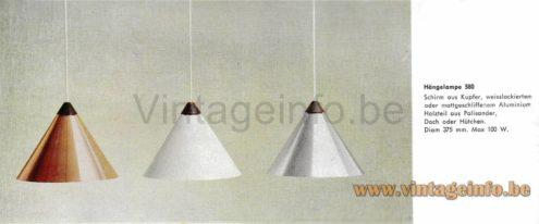 Uno & Osten Kristiansson Pendant Lamp - 1964 LUXUS Catalogue Picture