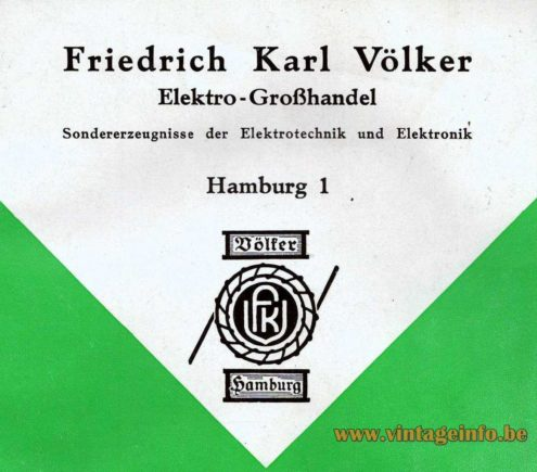 Völker Hamburg Spider Chandelier - 1964 Catalogue Logo - Cover