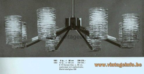 Völker Hamburg Spider Chandelier - 1964 Catalogue Picture