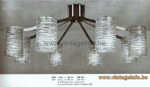 Völker Hamburg Spider Chandelier - Flush Mount - 1964 Catalogue Picture