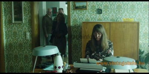 1970s Louis Kalff style desk lamps were used as a prop in the film Ballon from 2018