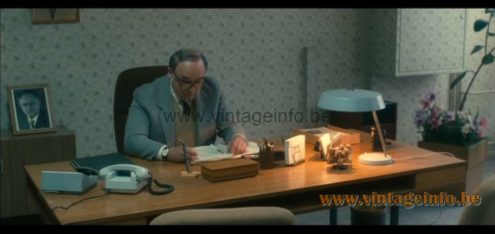 1970s VEB NARVA Desk Lamp appears as a prop in Carlos TV miniseries from 2010 Louis Kalff MCM