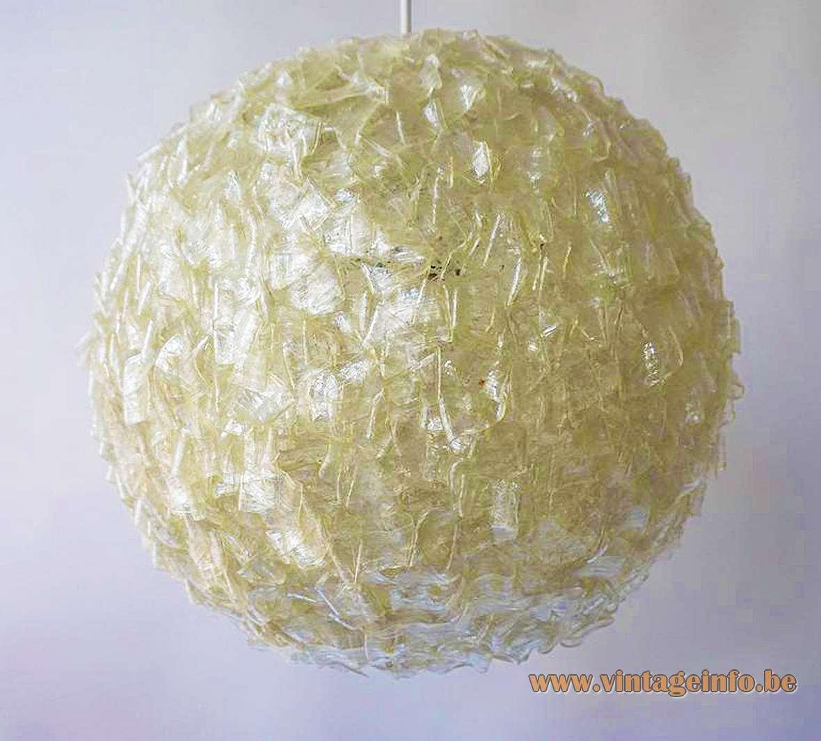 Ribbon Globe Swag Lamp Rotaflex John Sylvia Reid cellulose acetate ARP Atelier Recherche Plastique 1950s 1960s MCM