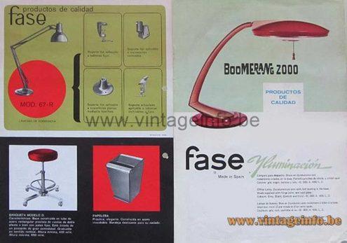 Fase Boomerang 2000 Desk Lamp – Catalogue 1967