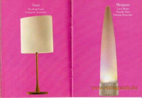 Sara Table Lamp (1994) – Pierluigi Cerri - Morgana Table Lamp (1991) – Luca Bergo, Claudio Naro, Patrizia Peracchio