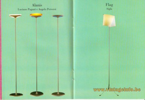 Alanis Floor Lamp – Luciano Pagani and Angelo Perversi - Flag Floor Lamp – Sigla