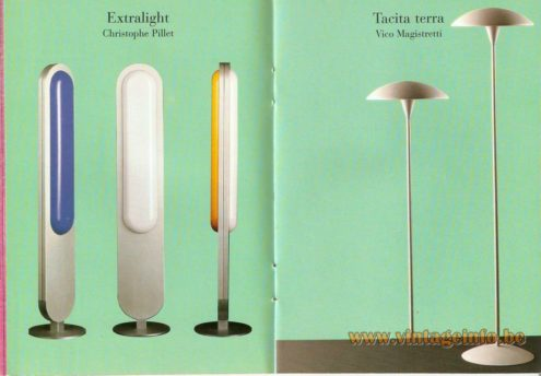 Extralight Floor Lamp – Christophe Pillet - Tacita Terra Floor Lamp – Vico Magistretti
