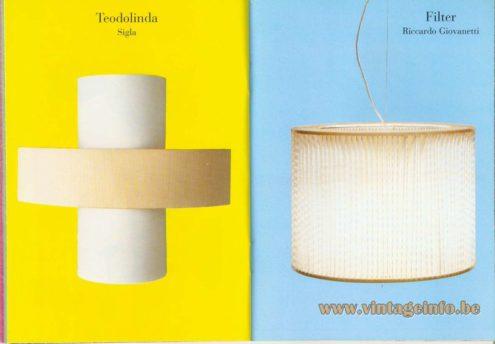 Teodolinda Wall Lamp – Sigla - Filter Pendant Lamp (2000) – Riccardo Giovanetti