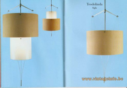Teodolinda Suspension Lamp (2000) – Siga (Scazella, Bani, Penati) – Möbel interior design award in 2000.