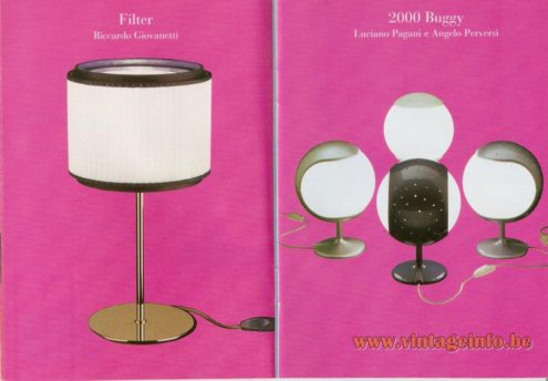 Filter Table Lamp (2000) – Riccardo Giovanetti, 2000 Buggy Table Lamp – Luciano Pagani and Angelo Perversi