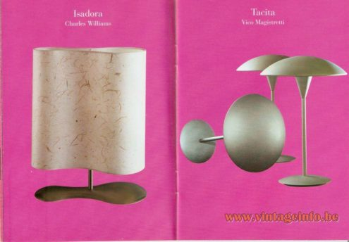 Isadora Table Lamp – Charles Williams - Tacita Table Lamp (1993) – Vico Magistretti