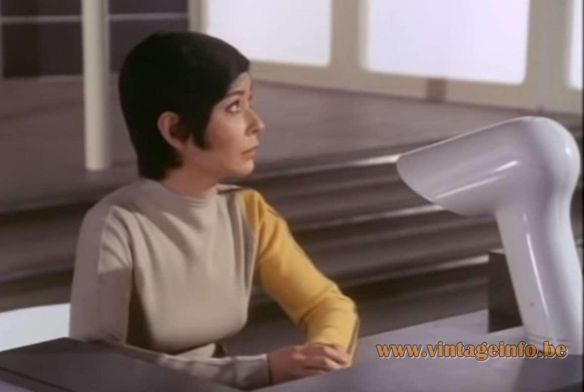 Harvey Guzzini Sorella desk lamp used as a prop in the Space 1999 TV series