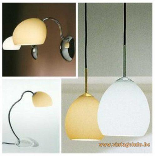 Leucos Golf lamps catalogue 2002 wall lamps table lamp pendant lamps Murano Italy