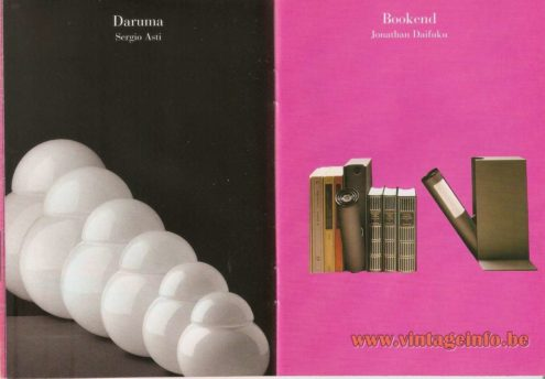 Sergio Asti FontanaArte Daruma Table Lamp Catalogue 1957 - 2000