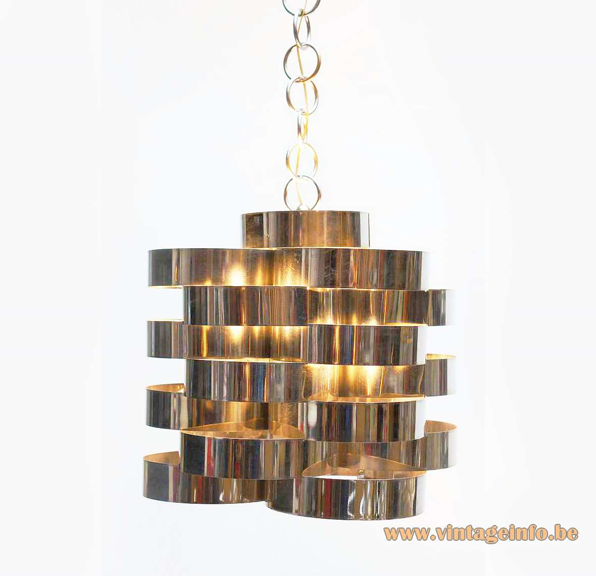 Stainless Steel Cylinders Chandelier
