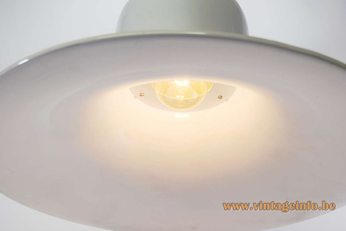 Stilnovo Campana Pendant Lamp white aluminium metal witch hat 1970s Joe Colombo MCM