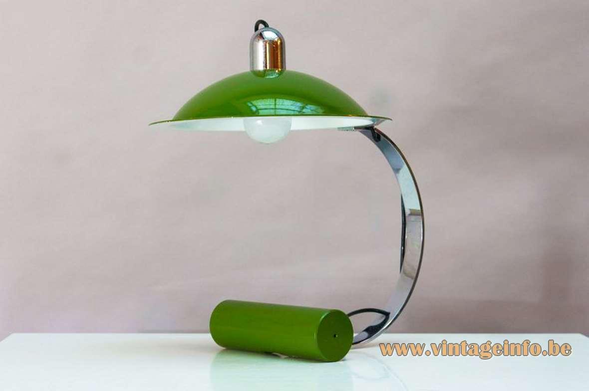 Stilnovo Desk Lamp 1970s, Designer: Jonathan De Pas,Donato D'Urbino, Paolo Lomazzi, aluminium, cast iron, chrome, Artimeta