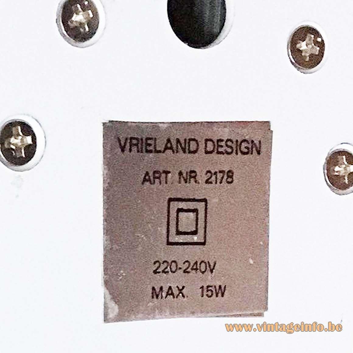 Vrieland Design Face Table Lamp foldable 1970s 1980s MCM