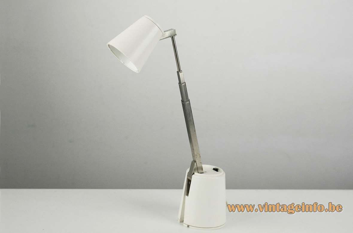 1960s Lampette telescopic table reading lamp extendable design: Koch Creations MoMA sold by Hala Eichhoff MCM