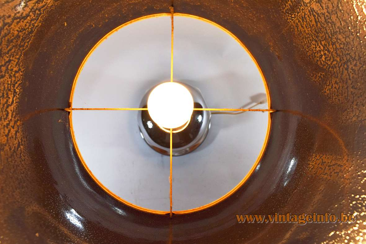 1970s Geometric Ceramics & Chrome Table Lamp Philippe Barbier style produced by Massive Belgium MCM