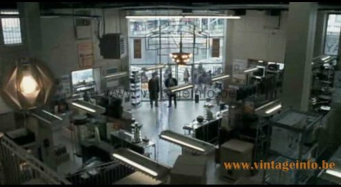 A 1970s Sompex pendant lamp was used as a prop in the film American Gangster (2007)