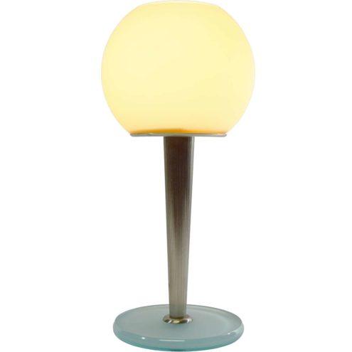 Antonangeli table lamp Olimpia design: Gianfranco Marabese glass base ribbed rod globe 1980s 1990s