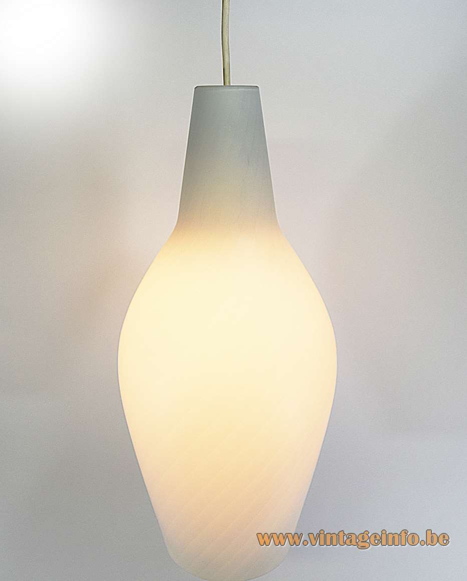 Aloys Ferdinand Gangkofner Tossa pendant lamp produced by Peill + Putzler 1950s 1960s 1970s MCM