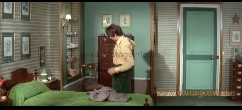 Aluminor Bedside Lamps used as a prop in the film Les Grandes Vacances (1967) Lamps in the movies!