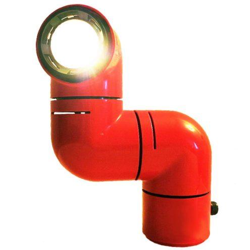 André Ricard Tatù table lamp armadillo ABS plastic Design 1972 Spain Metalarte 1970s Santa & Cole today MCM