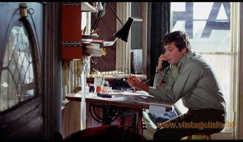 Anglepoise Model 75 task light used as a prop in the comedy film Take A Girl Like You (1970)