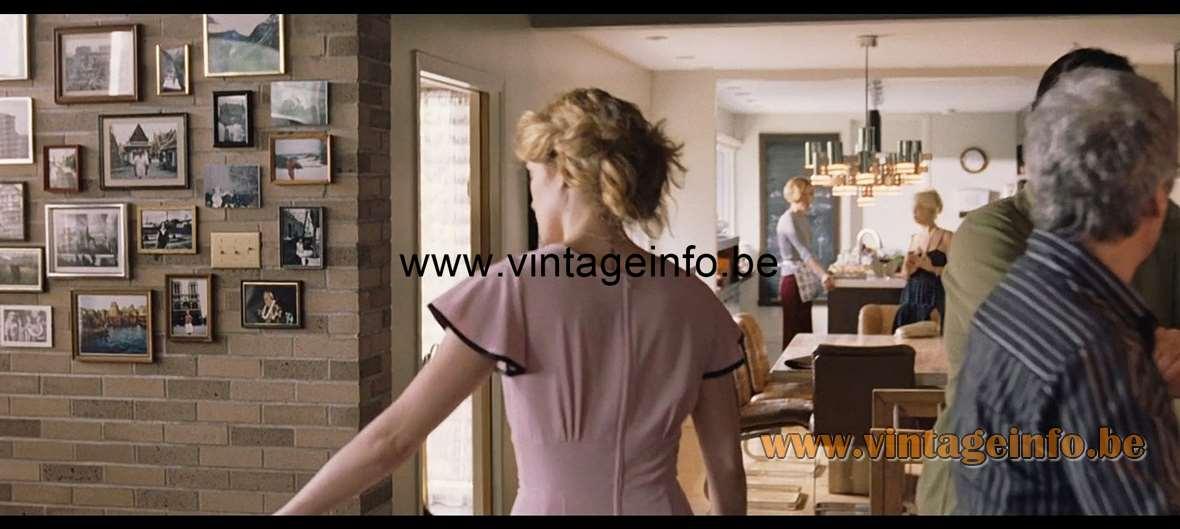 Gaetano Sciolari Geometric Chrome Chandelier used as a prop in the film Café De Flore (2011) – Lamps in the movies