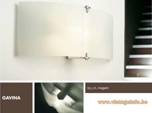 Josep Maria Magem - Marset Gavina Wall Lamp 1994 - half round opal glass and chrome