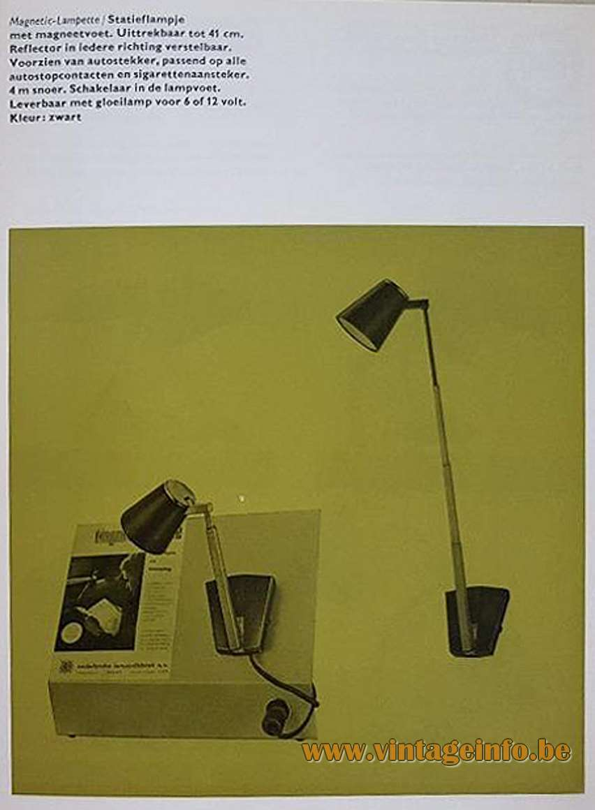 Lampette Telescopic Table Lamp - Hala Catalogue 1968 design: Koch Creations