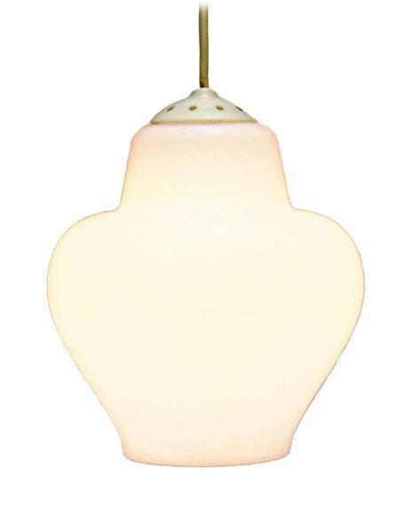 Opal glass pendant lamp Philips 1950s 1960s white milky bell form E27 socket MCM Mid-Century Modern