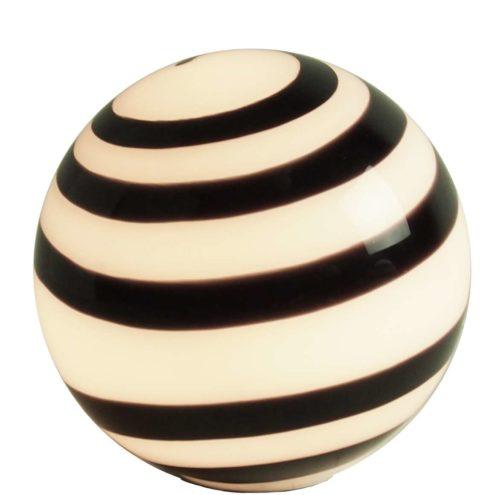 WOFI Leuchten Zebra Globe Table Lamp swirl ball light Germany 2000s Ilu Design Eglo