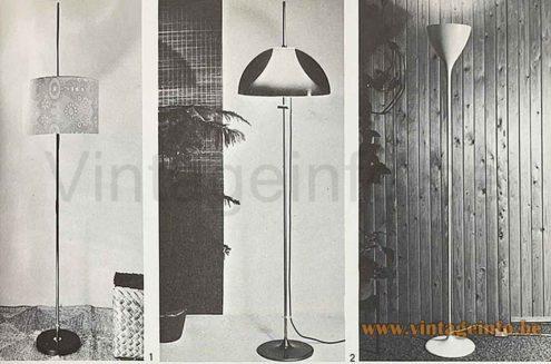 Artimeta Acrylic Floor Lamp - 1960s, 1970s, The Netherlands - Het Moderne Interieur Elsevier 1971