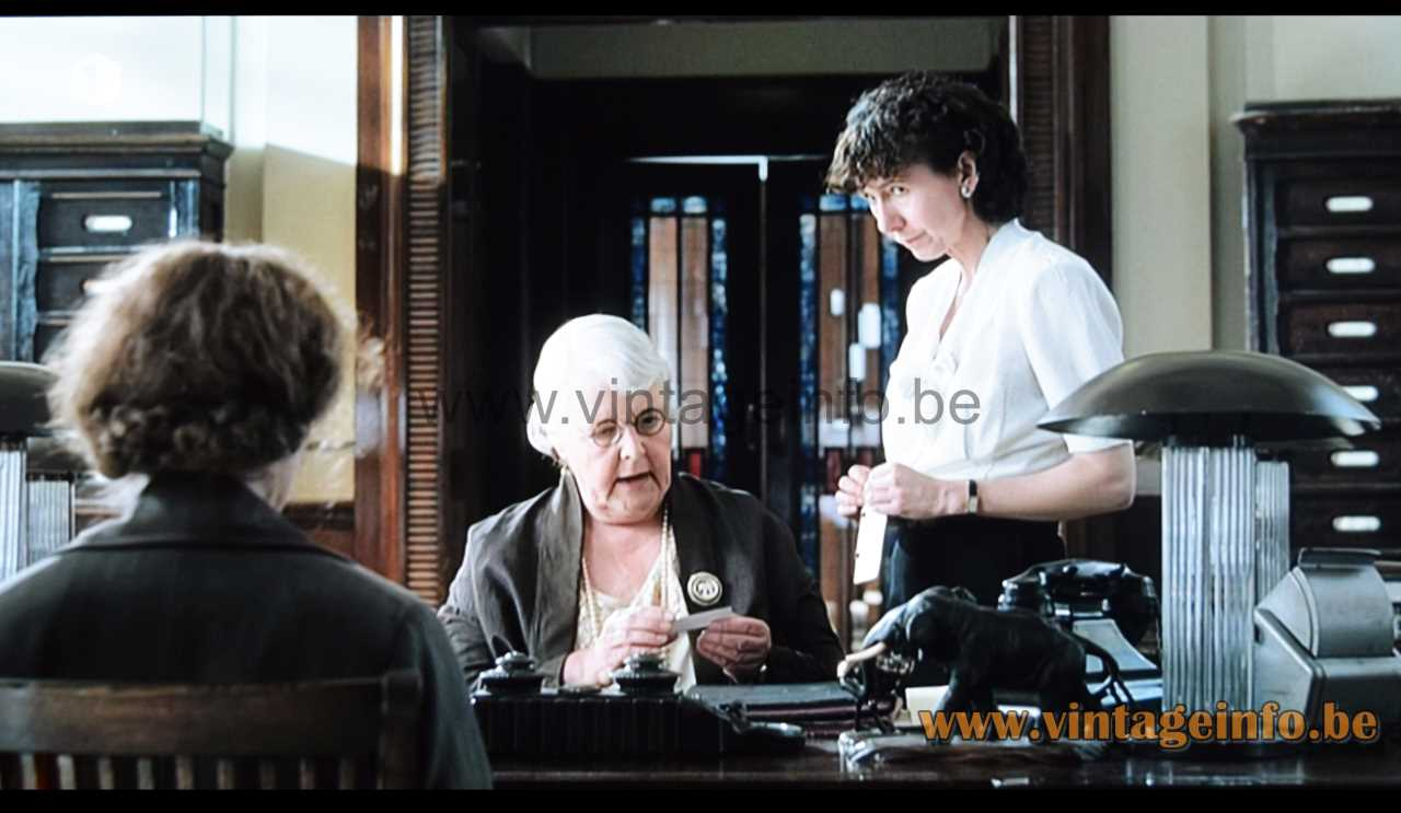 Glass rods art deco table lamp used as a prop in the 2008 film Miss Pettigrew Lives For A Day