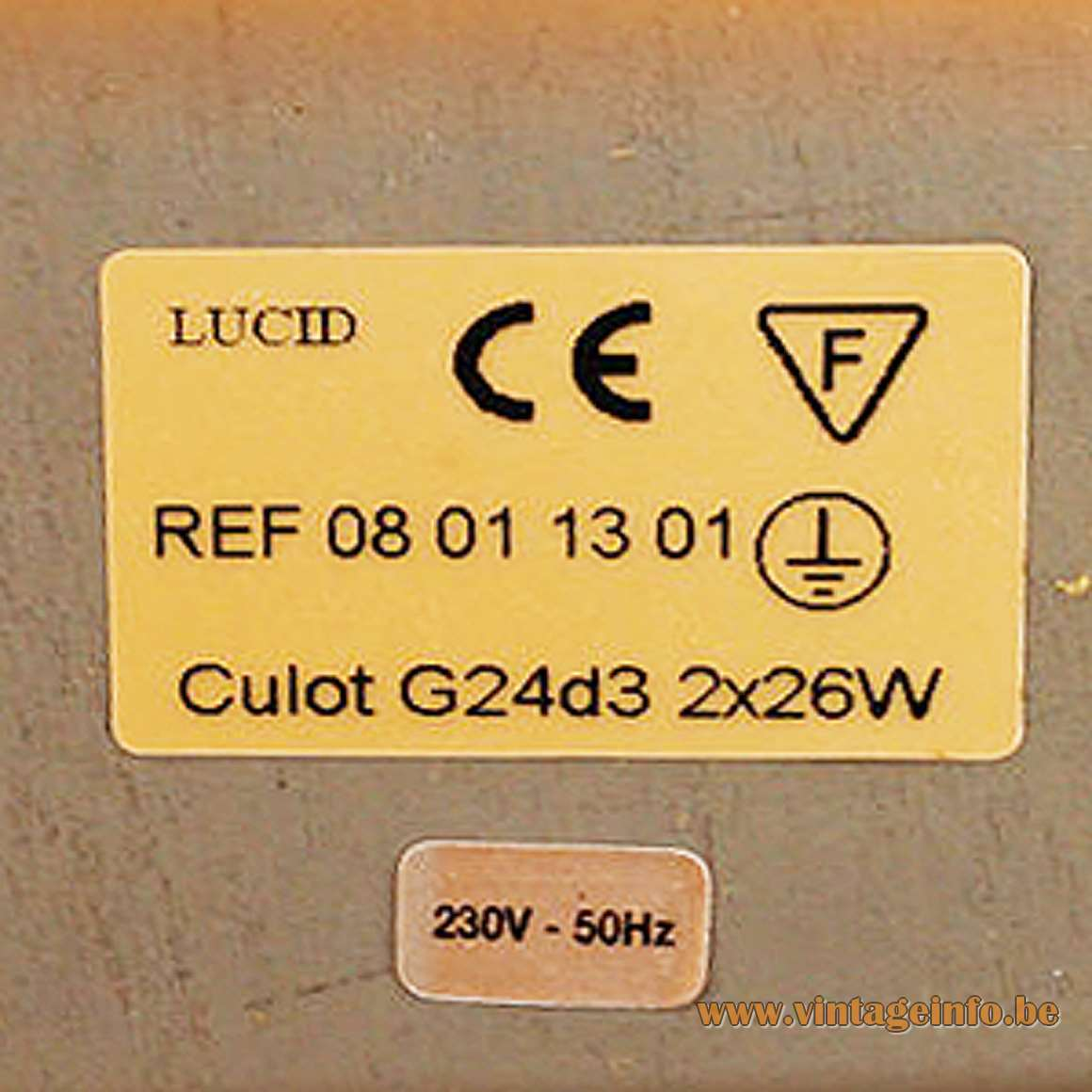Lucid Harmonie table lamp curved plywood white acrylic 1990s Culot G24D3 designer: Soren Eriksen SEDAP