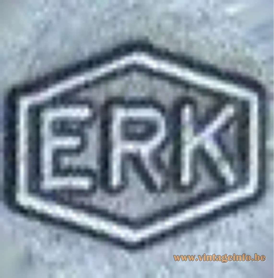 ERK logo on the switch of this 1970s East German desk lamp