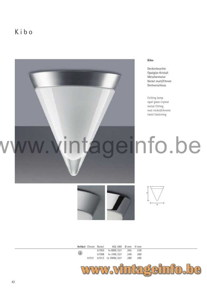 Peill + Putzler Kibo Flush Mount - 2014 Catalogue Picture