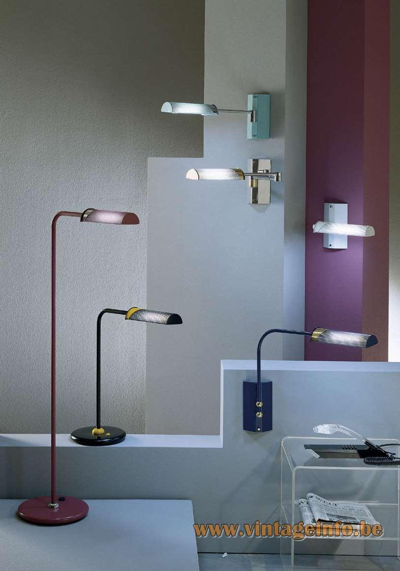 Peters Design Fingo lamp series floor lamp, table lamp, wall lamp, 1990s, 2000s several colours metal Germany