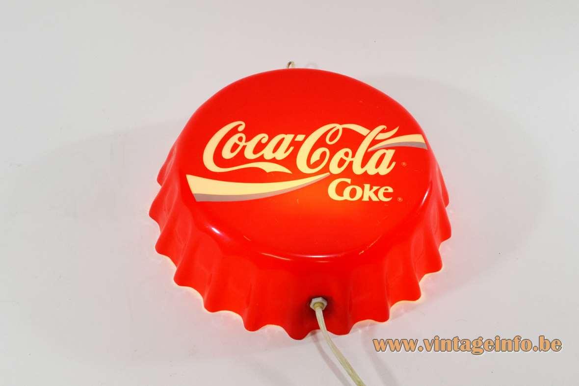 Vintage Coke Coca Cola wall lamp light advertising sign 1980s Brainstorm France E14 socket