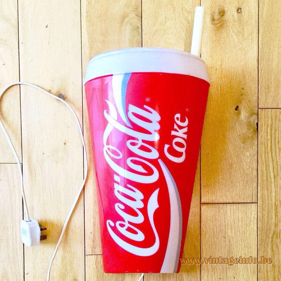 Vintage Coke Coca-Cola wall lamp light advertising sign 1980s Brainstorm France E14 socket