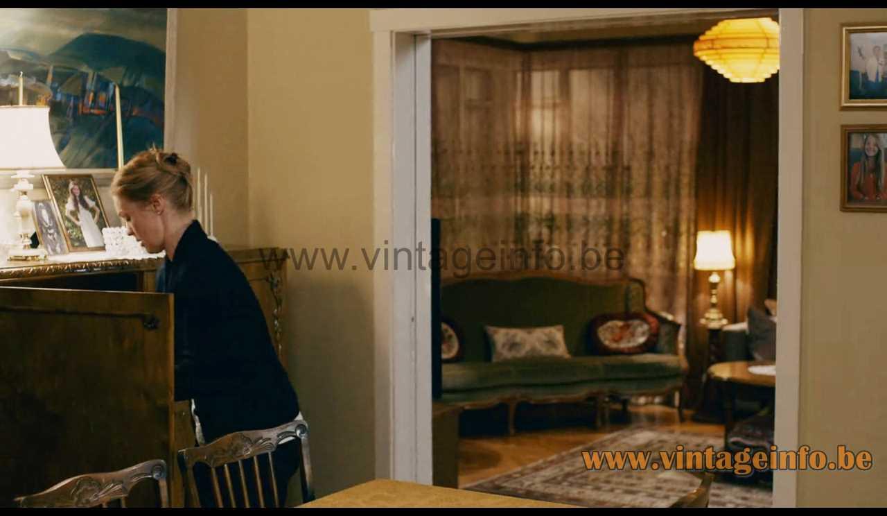 Hans-Agne Jakobsson pine slats pendant lamp - Trapped 2015 TV series S1 E2